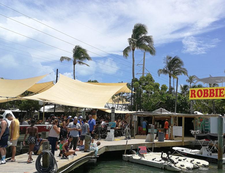 Пристань Robbie's Marina  в деревне Исламорада